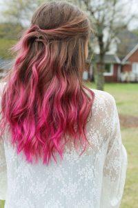 Pink mit braunem Ombre