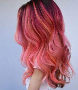 Florida Flamingo rosa Haare
