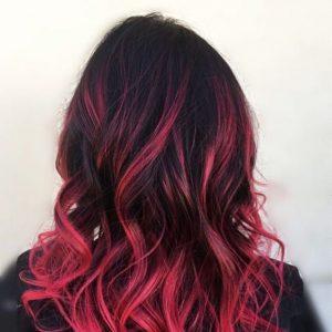 schwarz und pink ombre
