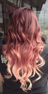 Ombre rosa Farbverlauf