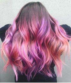 leuchtend rosa und lila Ombre