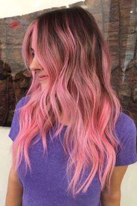 rosa Schattenwurzel Ombre