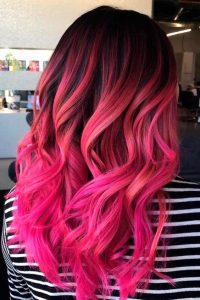 rosa neon dunkles ombre