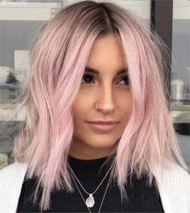 blondes Platin mit rosa