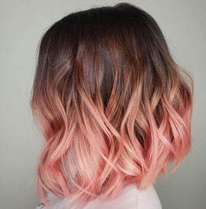 Pastellton rosa Ombre