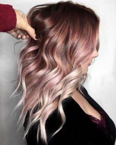 kantige rosa Ombre Farbe