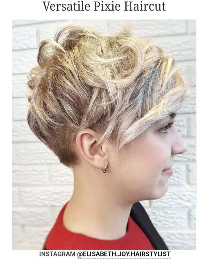 blonde Pixie geschnitten