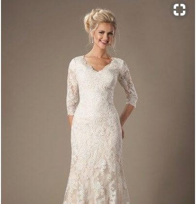 Hochzeitskleid für Braut über 60
