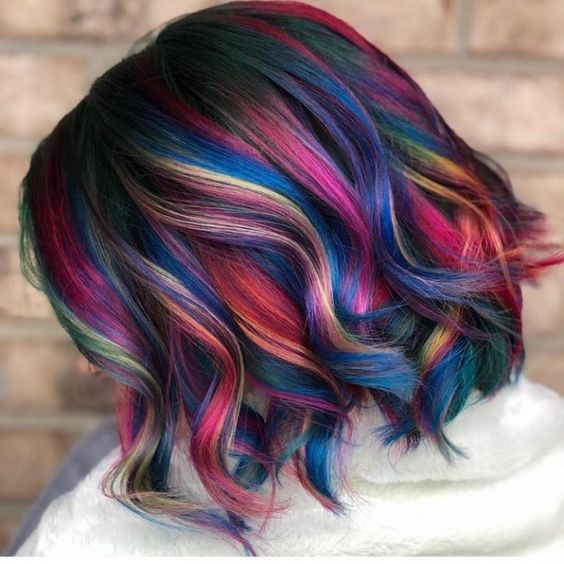 einzigartige helle Farben gemischt