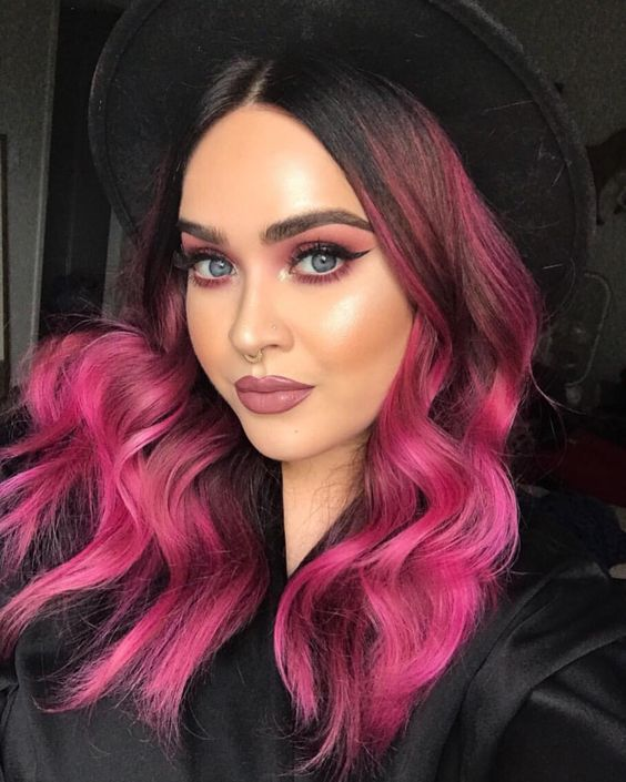 Magenta Pink Ombre