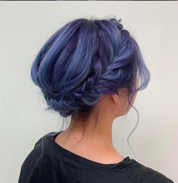 blaue Haarfarben