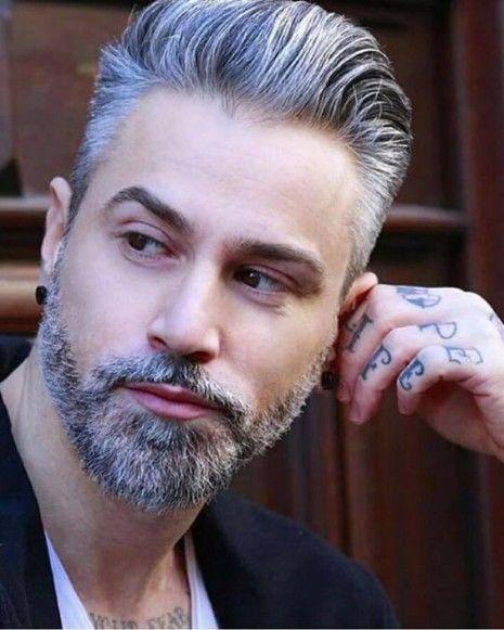 Ist das graue Haar für Männer der Trend, hier zu bleiben? | Silber Haarfarbe für Männer | Frisur auf den Punkt