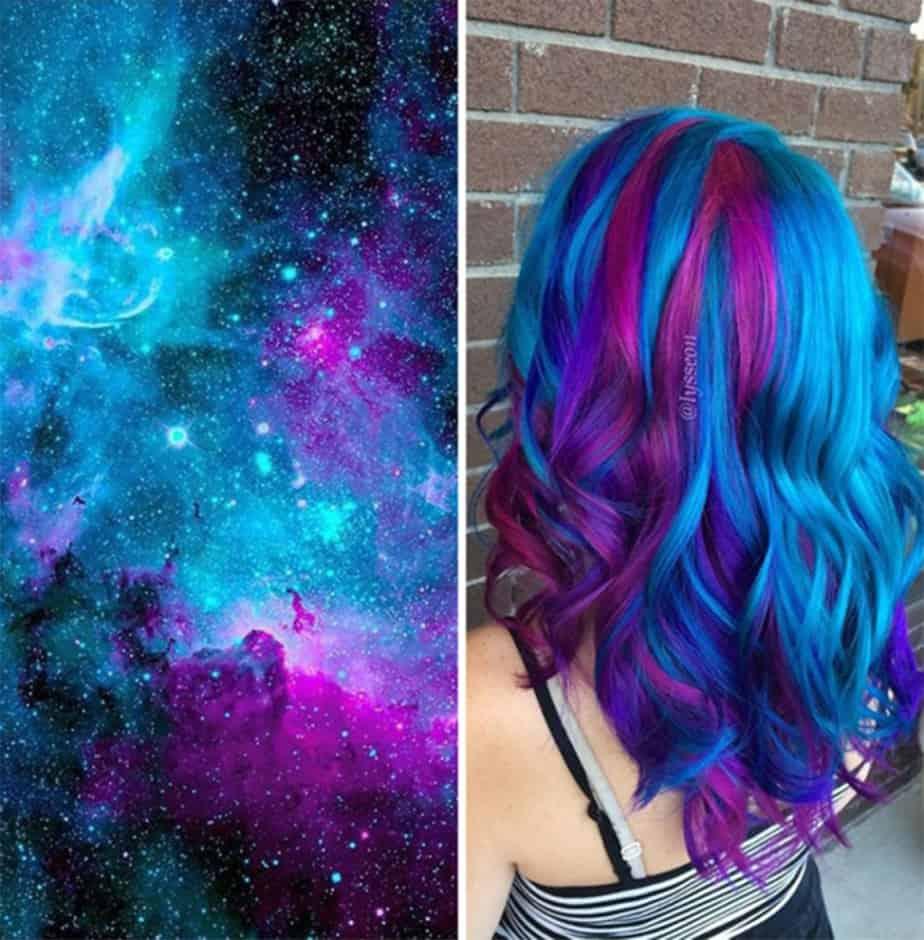 Galaxy-Haar-Haarfarbe-2017-Frauen-Frisuren-2017-Haartrends-2017-Haarfarbe 2017