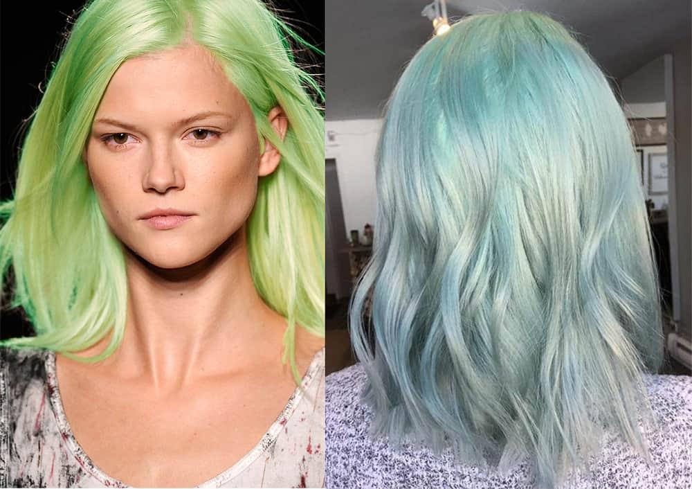 Aschgrün-Haarfarbe-bunte Haarideen
