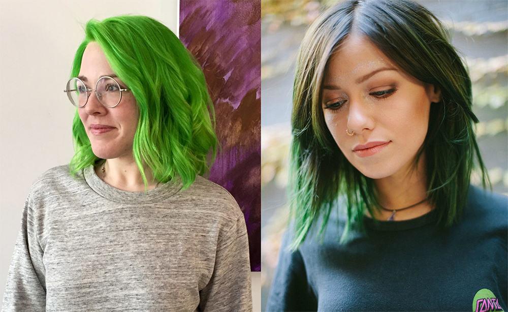 Grüne Haarfarbe-Fantasie-Haarfarbe-bunte-Haar-Ideen-für-Herbst-Fantasie-Haarfarbe