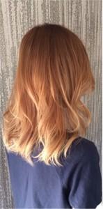 erdbeerblonde Haarfarbe