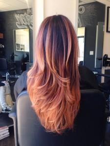 rotblondes Haar