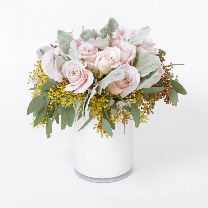 STYLECASTER | Bester Blumenlieferdienst | Floom weiße Rosen