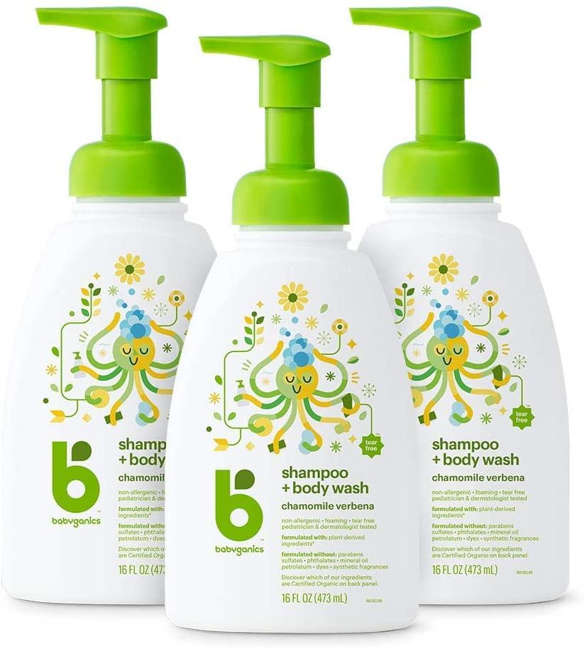 Babyganics Baby Shampoo + Körperwaschpumpe Flasche