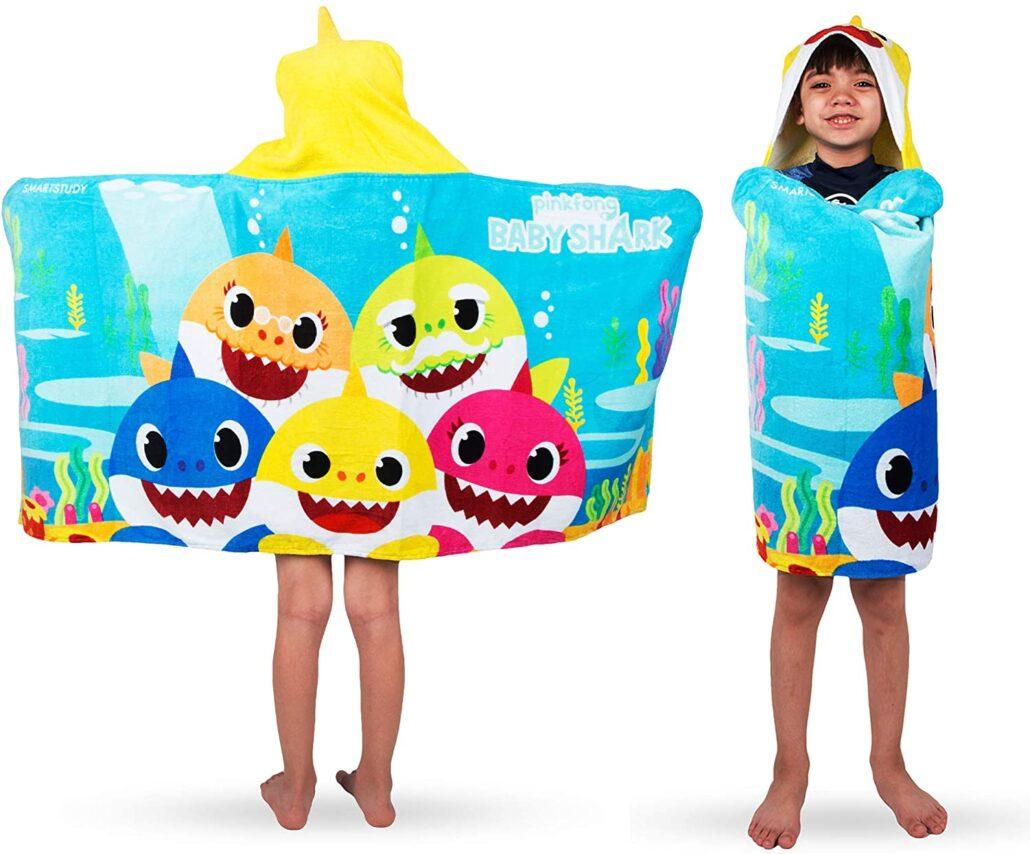 Franco Kinder Bad und Strand weiche Baumwolle Terry Kapuze Handtuchwickel