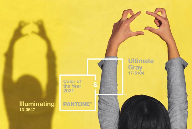 Pantone 2021 Farben des Jahres: Ultimate Grey + Illuminating