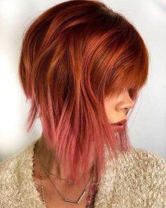 Ombre roter Haarschnitt