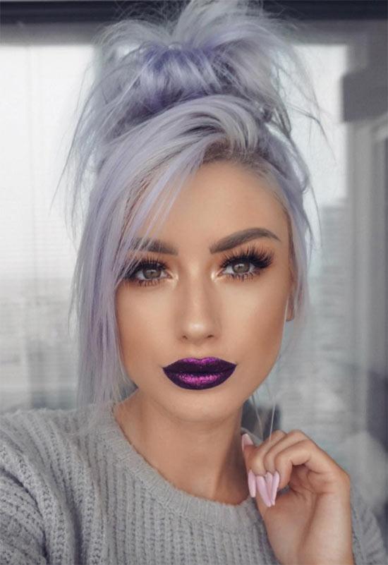 Lila Lippen Make-up Tipps