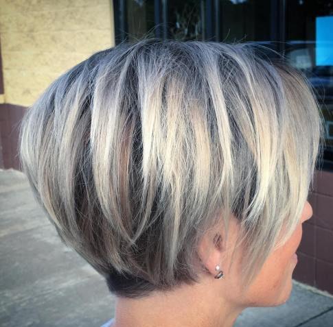 Pflegeleichte, einfache, feine Haare, kurze Frisuren