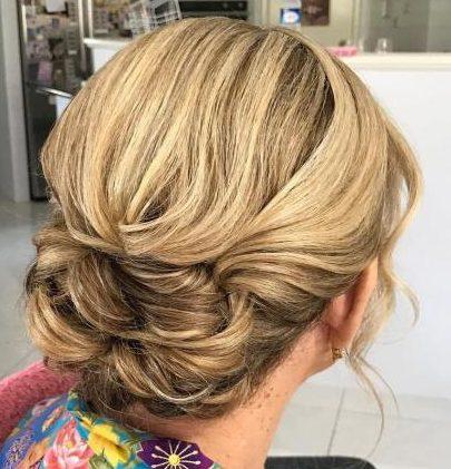Lange Haare Hochzeitsfrisuren für ältere Damen
