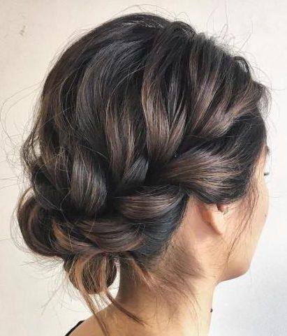 Hochsteckfrisuren für mittleres Haar