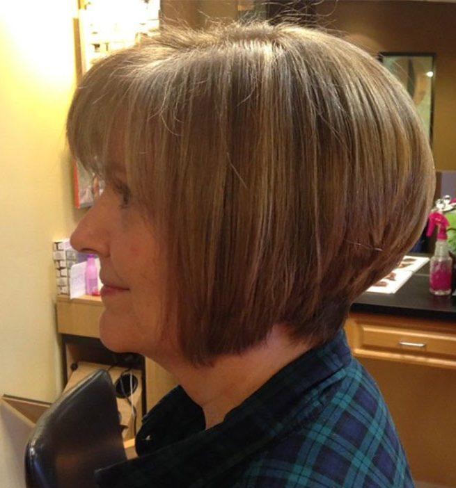 Gestapelte Bob-Bob-Frisuren für über 60 Jahre