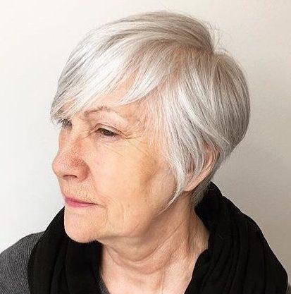 Dünne Haare Pixie Haarschnitte für feines Haar über 60