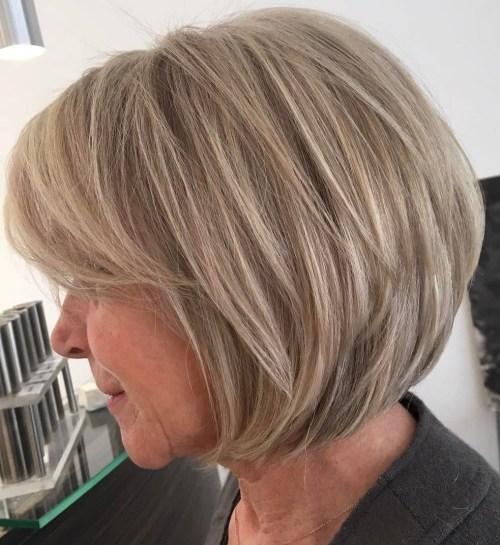 Mittlere Frisuren für feines Haar über 60