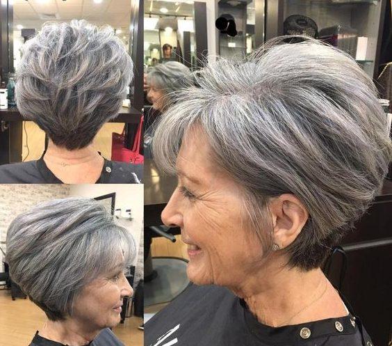 alte Frau kurze Frisuren