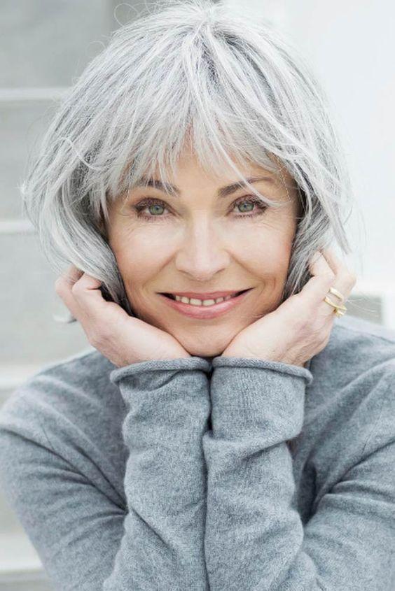 Bob Frisuren für graues Haar über 60