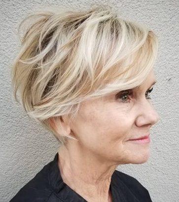 Pixie Haarschnitte kurze Frisuren für feines Haar über 60