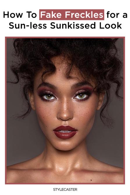 STYLECASTER | Sommersprossen | Sommersprossen Make-up | falsche Sommersprossen | Sommersprossen | Schönheit | bilden