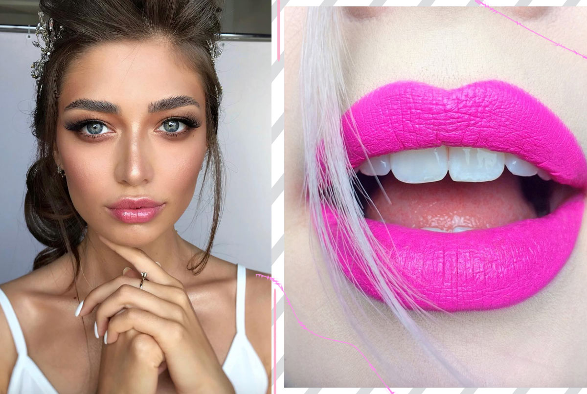 Wie man rosa Lippenstift trägt