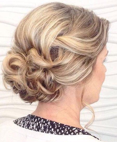 Unordentliche Seite Brötchen Frisuren für die Hochzeit