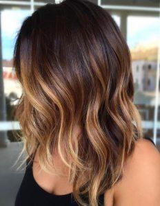 Ombre Balayage blond braun
