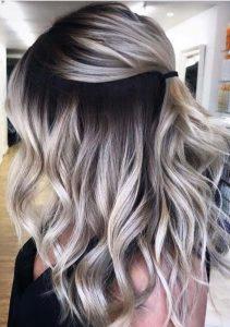 braune Wurzel blonde Ombre
