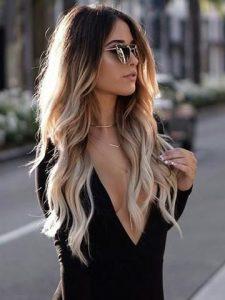 super langes ombre Haar