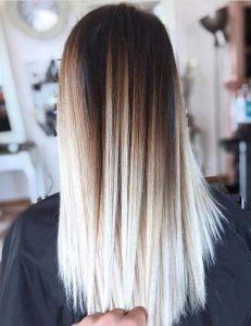 Pin gerade blonde Ombre