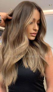 natürliches Ombre-Haar Braun bis Blond