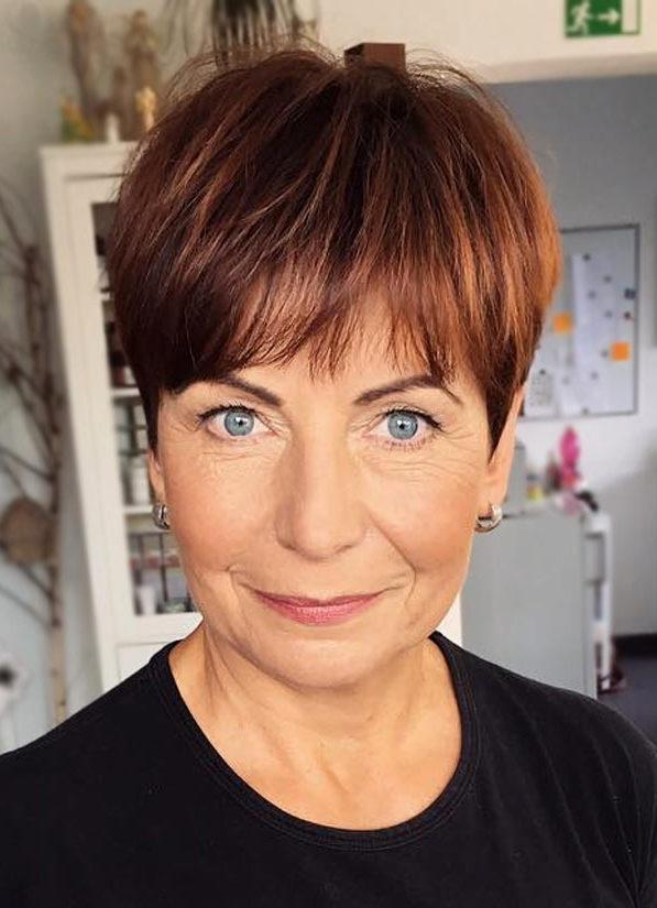 Pixie Frisuren kurze Frisuren für Frauen über 50