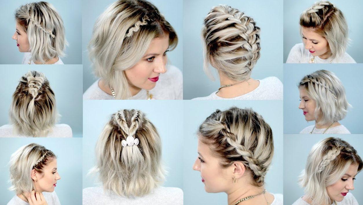 Schritt für Schritt geflochtene Frisuren für kurzes Haar