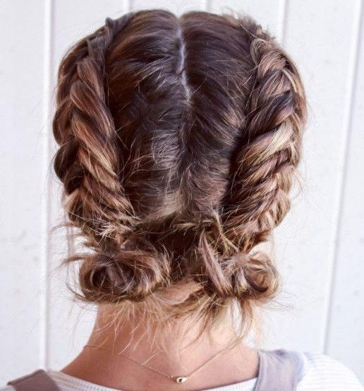 Anfängerzöpfe für kurzes Haar