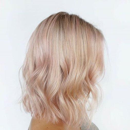 roségold erdbeerblondes Haar