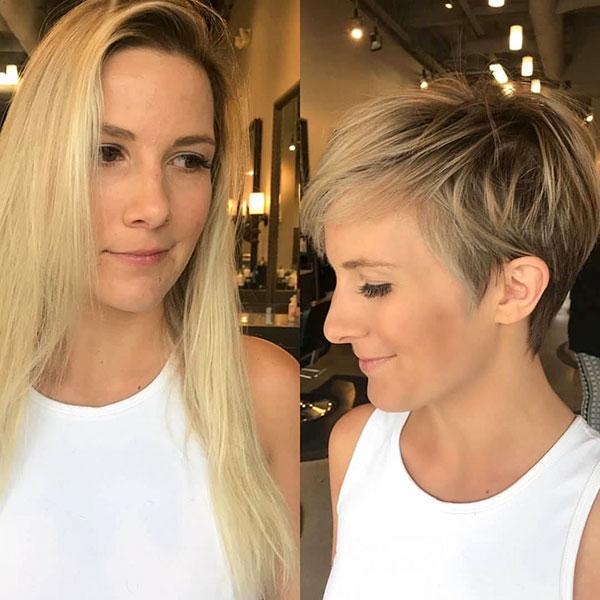 Bilder von Frisuren für kurze Haare