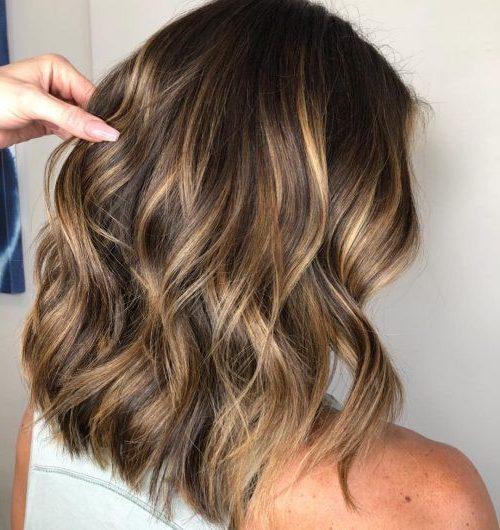 hellbraune Haarfarbe